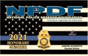 2021 NPDF Honorary Member Card Image