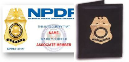Member Badge Credenitals in Leather Wallet Image
