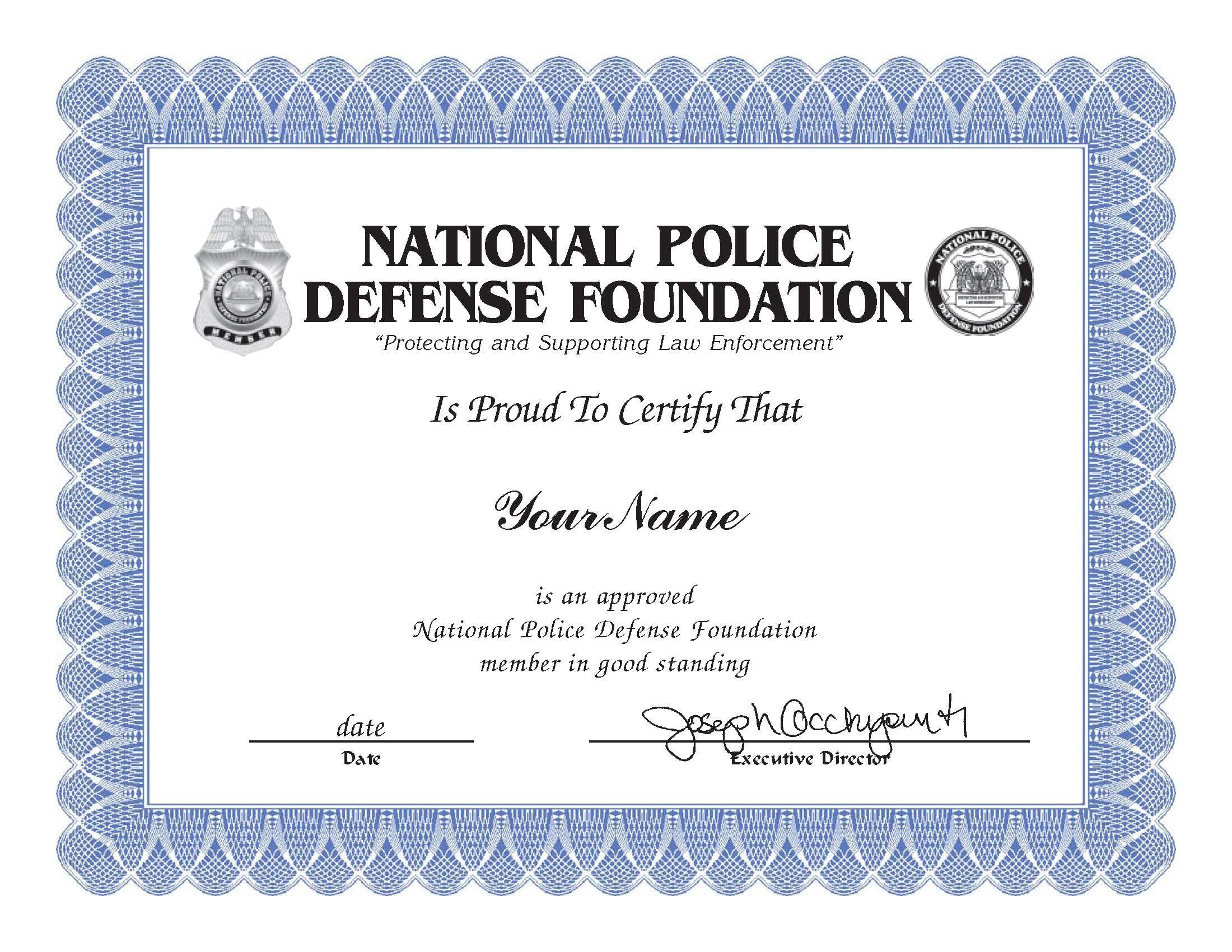 Member Certificate Image